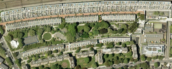 Aerial View of Alexandra Road Park at the centre of the Alexandra and Ainsworth Estate, 2010
