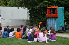 Punch & Judy at celebration picnic 1st September 2013